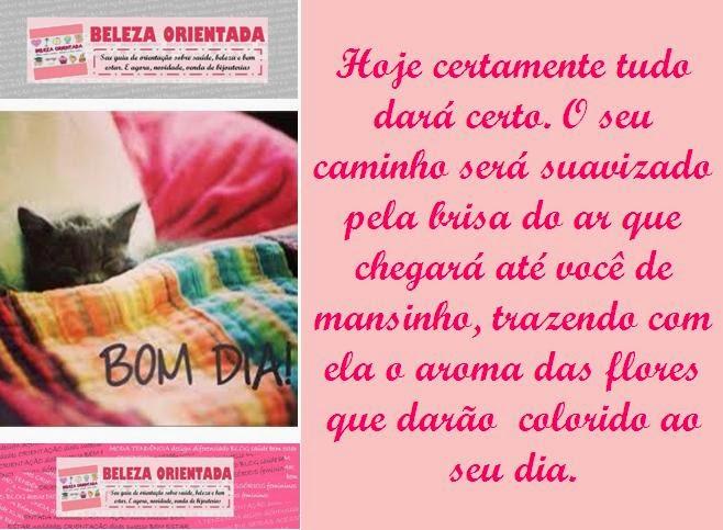 Mensagem De Bom Dia Fevereiro: BELEZA ORIENTADA: MENSAGEM DE BOM DIA, BELEZA ORIENTADA