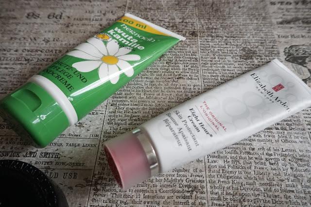 Elizabeth Arden - Eight Hour Cream, Herbacin - wuta kamille Handcreme