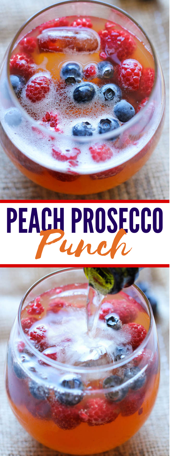 PEACH PROSECCO PUNCH #drinks #freshdrink #cocktails #punch #peach