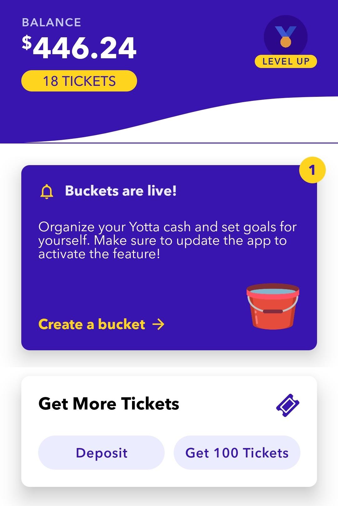 Use Code DIVI to get free tickets - My April 2021 end Yotta Savings balance thus far!
