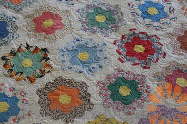 Piece N Quilt Flower Garden Quilt Edge To Edge Machine