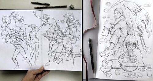 00-Drawing-Studies-Gaby-Niko-www-designstack-co