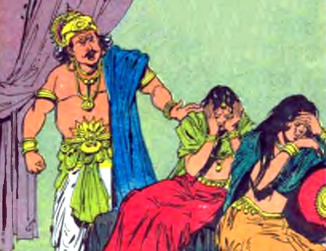 Jarasandha and his daughters Asti and prapti