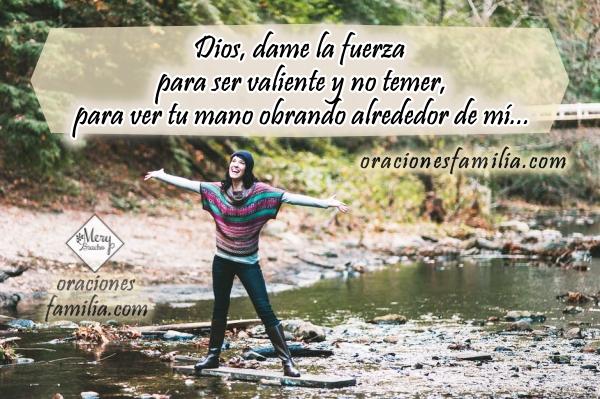 Oración corta para que Dios me dé fuerza y ayuda en este buen día, frases cristianas con imágenes y oraciones por Mery Bracho.