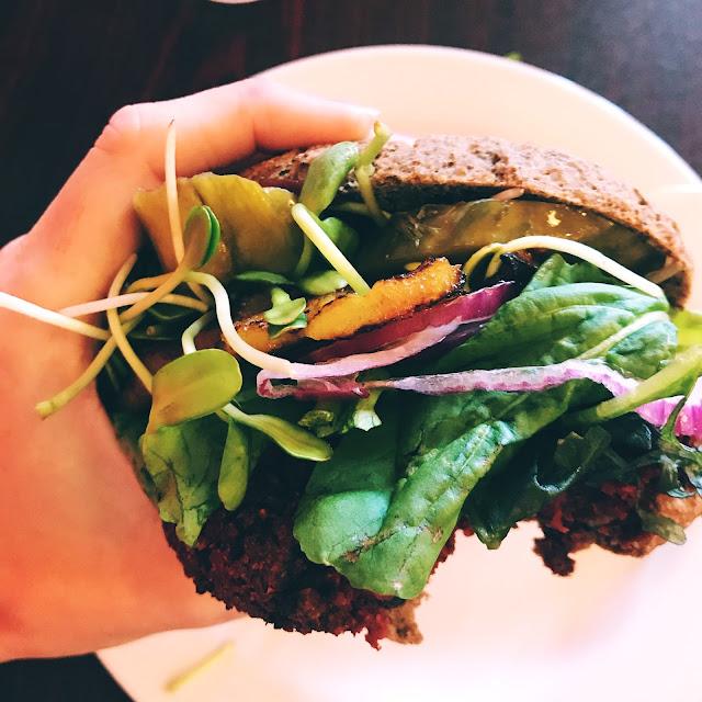 Vegan Gluten Free Hawaiian Veggie Burger