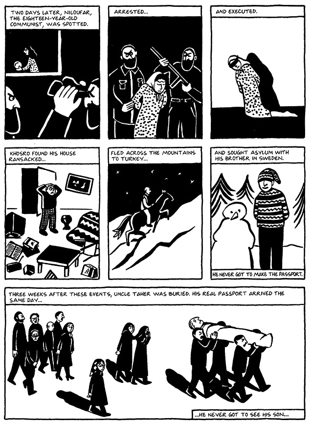 Read Chapter 16 - The Passport, page 123, from Marjane Satrapi's Persepolis 1 - The Story of a Childhood