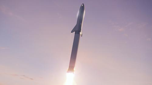SpaceX Big Falcon Rocket launch