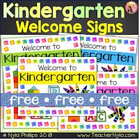 Free kindergarten welcome posters