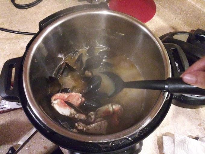 A Mini Seafood Boil in The Danielle Victoria Test Kitchen.