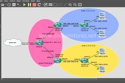 Tutorial Konfigurasi Routing OSPF Multi Area di Mikrotik