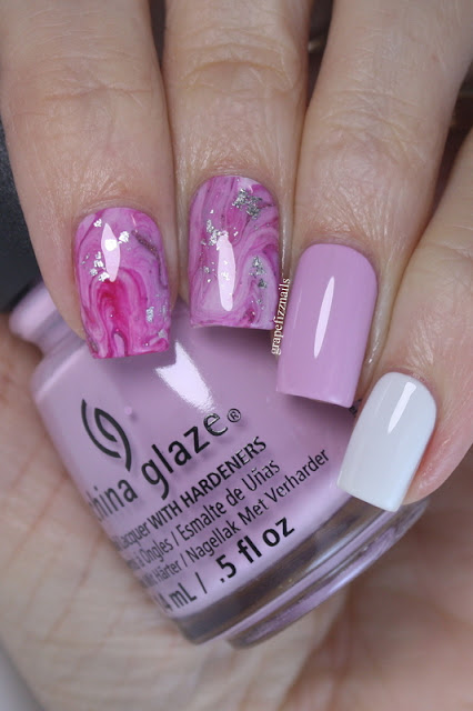 China Glaze Drip Marble Nails