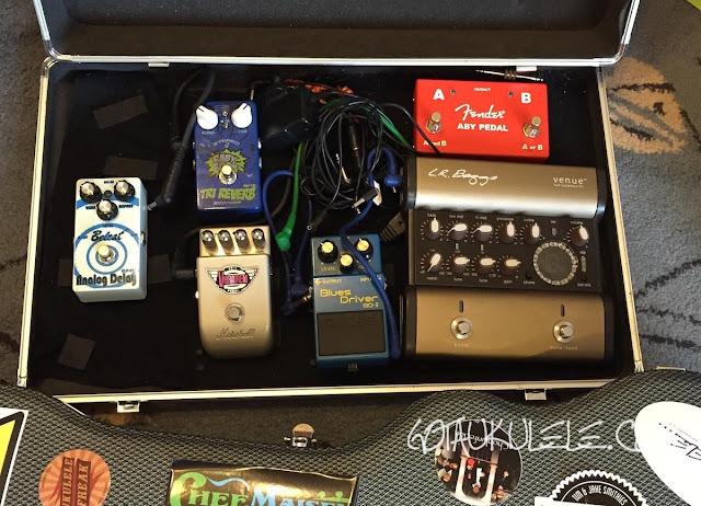 ukulele effects pedal board
