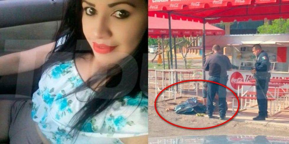 A sangre fría sicarios ejecutan a quemarropa a una mujer cuando atendía su taquería en Guaymas, Sonora