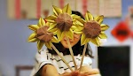Membuat Kerajinan Tangan Origami Bunga Matahari Realistis 3D