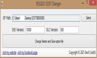 PES 2021 EDIT Version Changer