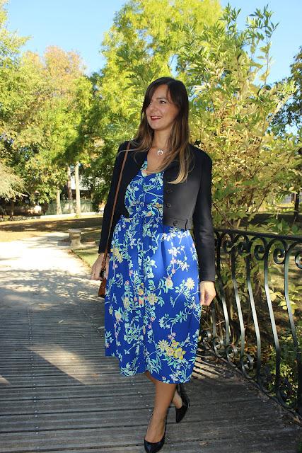 robe opullence, veste Maje, les petites bulles de ma vie, look du jour