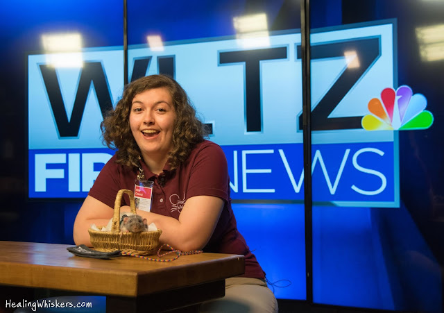 Vincent the Therapy Rat and Abby Chesnut on WLTZ First News