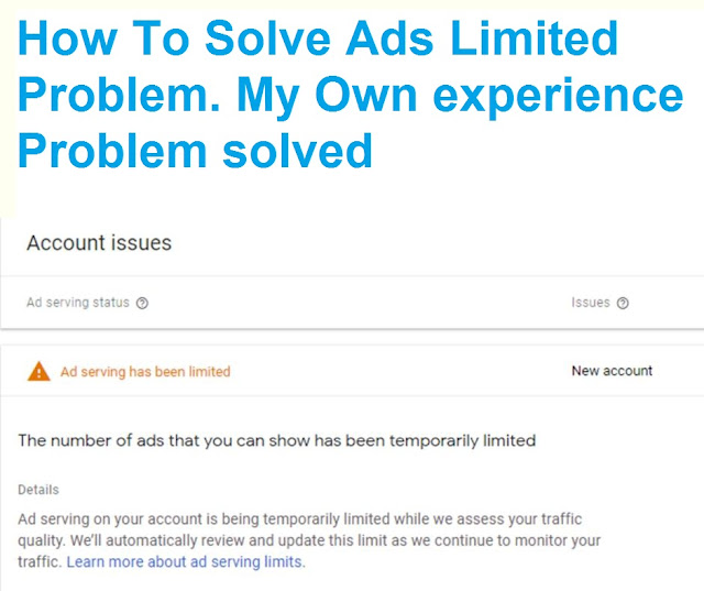 Solve Ads limited Problem