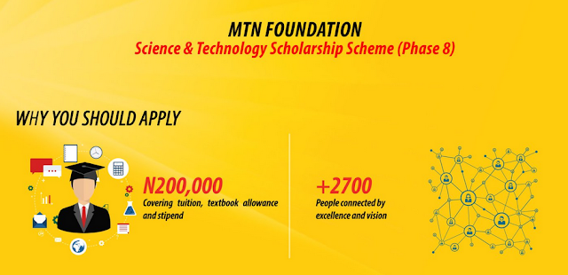 MTN Science and Technology Scholarship Scheme 2021