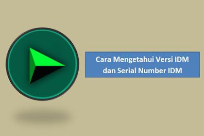 Cara Mengetahui Versi IDM dan Serial Number IDM Asli atau Palsu