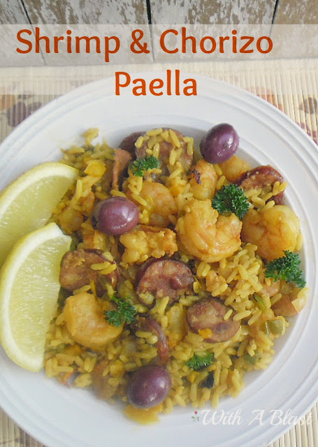 Shrimp and Chorizo Paella ~ This is a winning combination - Shrimp and ...