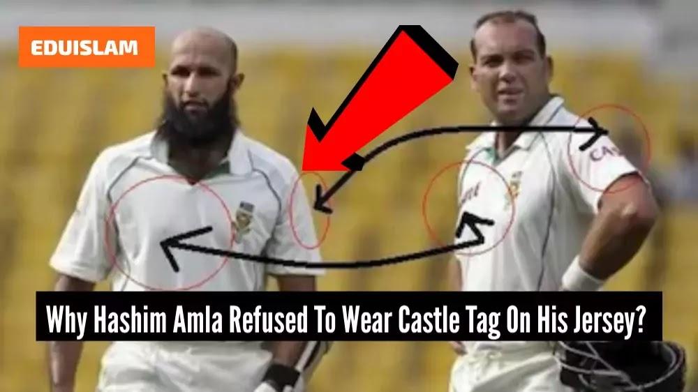 No Alcohol tag on Hashim Amla Jersey