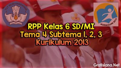 Kumpulan Download RPP Kelas 6 SD/MI Tema 4