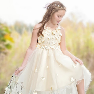 Beautiful flower girl wedding dress