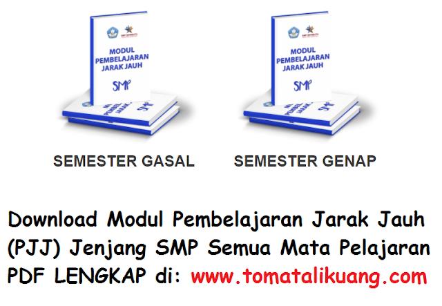Modul Pembelajaran Jarak Jauh PJJ Jenjang SMP Semua Mata Pelajaran PDF tomatalikuang.com