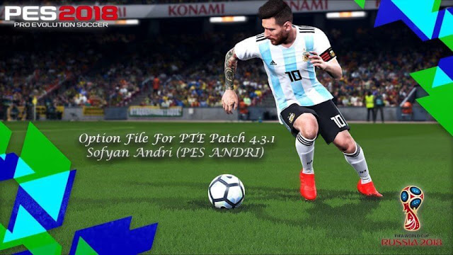 Option File For PTE Patch 4.3.1 PES 2018