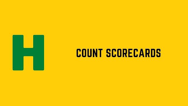 HackerRank Count Scorecards problem solution