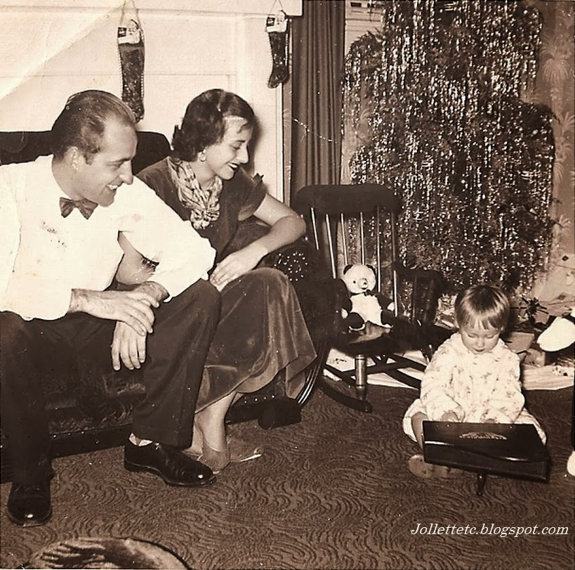 Fred, Mary Eleanor, Wendy Slade Christmas 1952