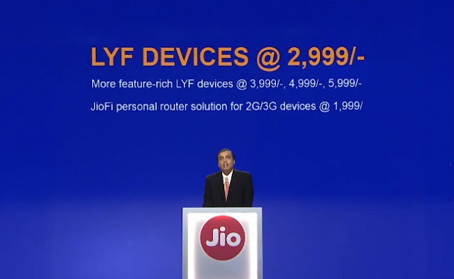 Reliance Jio Official Launch and Tariffs Plans 3 LYF Devices