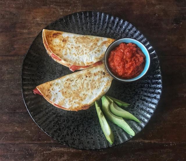Quesadillas with Chorizo and Mozzarella