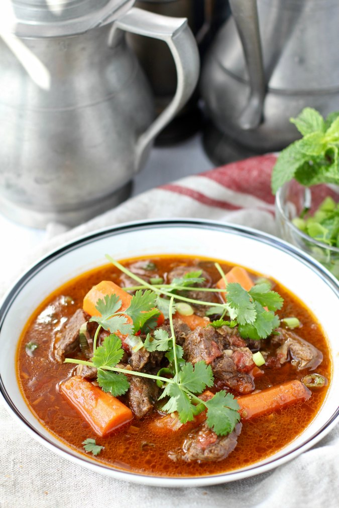 Vietnamese Beef Stew {Bò Kho} with carrots