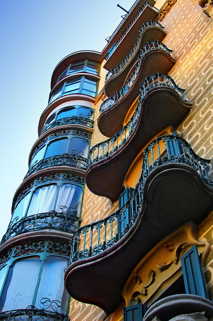 Modernist Building, Rambla Catalunya 61 next to Arago St.