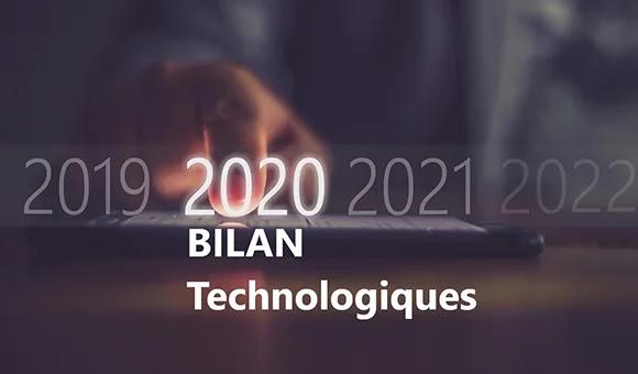 Bilan 2020 des importants développements technologiques.