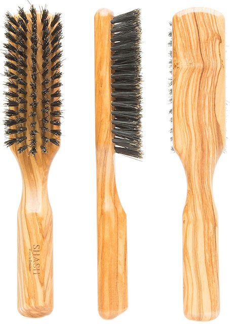 Shash The Tidy Craftman Boar Bristle Hair Brush, Firm