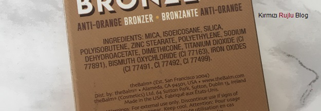 The Balm anti orange bronzer