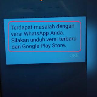 Tidak bisa masuk whatsapp