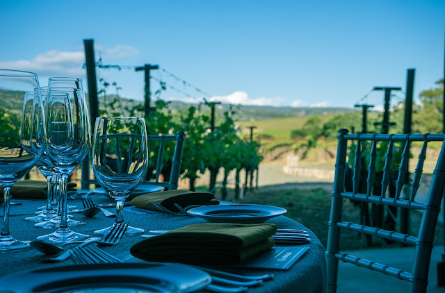 Napa Valley Restaurant with vineyard  scenery