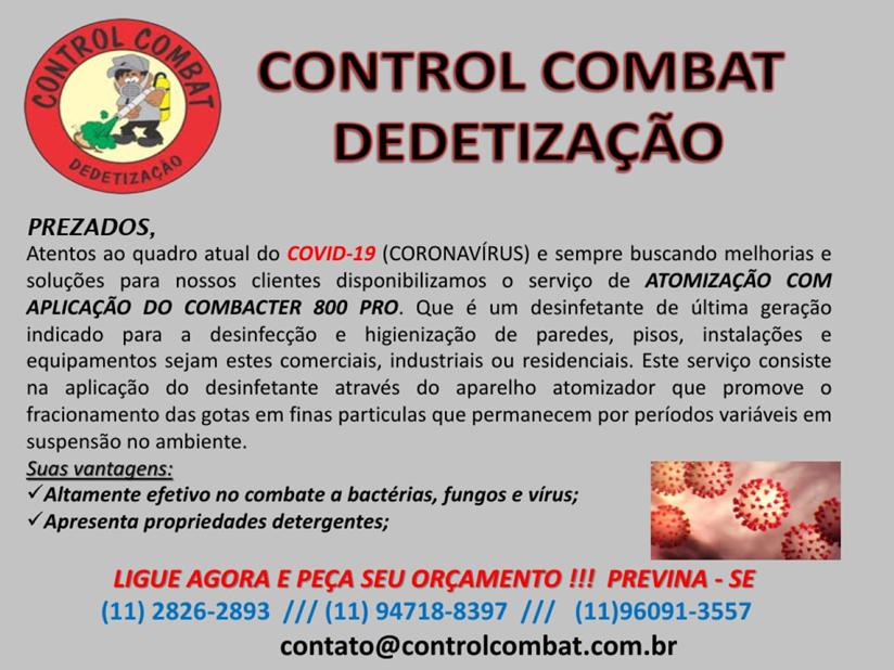 Higienização contra o corona vírus