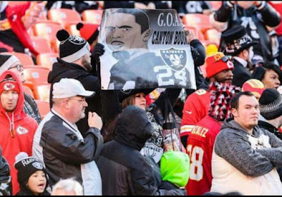 Raiders Banner During the Football Game | Banners.com