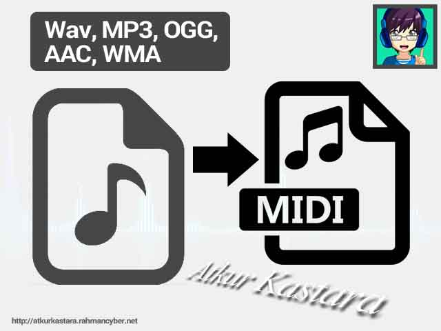 AtkurKastara Tutorial Converting Wav, MP3, OGG, AAC, WMA to Midi