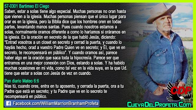 El secreto de la oración en secreto - Citas William Branham Mensajes