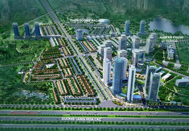 Vị trí khu đô thị Geleximco - Lê Trọng Tấn.