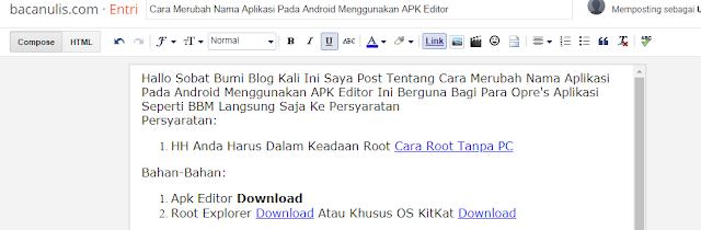 Cara Merubah Nama Aplikasi Pada Android Menggunakan APK Editor