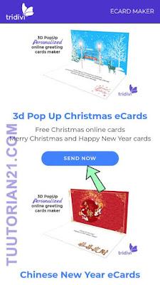 Membuat kartu ucapan natal