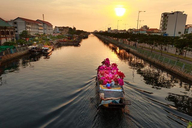 Pasar Bunga di Vietnam