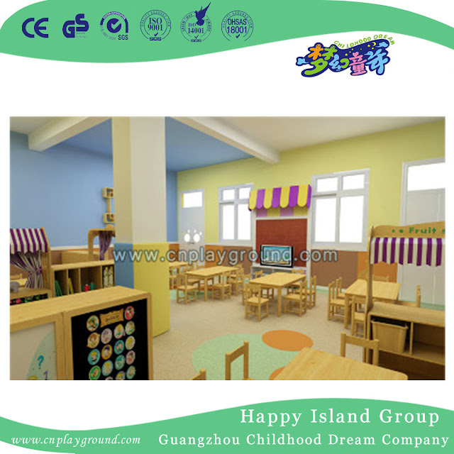 Kindergarten High Quality Beauty Salon Children Furniture (HJ-8405)